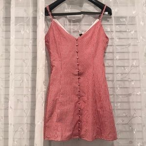 Small Red & White checkered summer dress